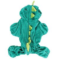 Uxcell Dinosaur Shape Pet Dog Doggy Sleeved Coat Clothes, X-Small, Hunter/Green