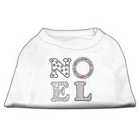 "Mirage Pet Products 8"" Noel Rhinestone Dog Shirt, X-Small, White"