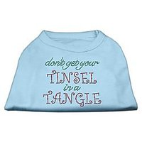 "Mirage Pet Products 12"" Tinsel In A Tangle Rhinestone Dog Shirt Baby, Medium, Blue"