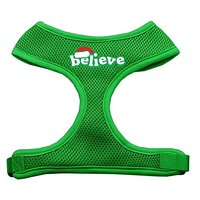 Mirage Pet Products Believe Screen Print Soft Mesh Dog Harnesses, X-Large, Emerald Green