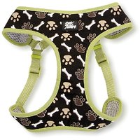 Pet Attire Designer Step-in Harness Brown Paws And Bones, Small, 19 To 23-Inch