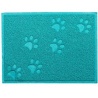 Tera Embossed Square Style 11.8x15.8 Inch PVC Pet Food Water Dish Bowl Mat Blanket Petmate For Dog Cat Pet