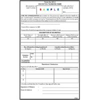 Pack Of 100 Nos Securities Transfer Form (formerly Share Transfer Deed)