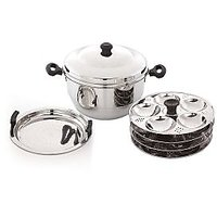 Pigeon Idly And Khaman Maker Induction Compatible Hot Pot 24