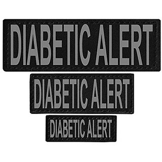 Dogline Diabetic Alert Removable Velcro Patches, Large/X-Large