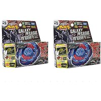 Set Of 2 Beyblades #BB70 Japanese Metal Fusion W105R2F Galaxy Pegasis Battle Top Starter Set. (Galaxy Pegasus W105R2F Is