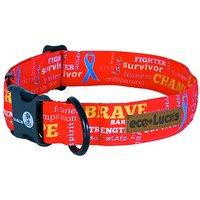 Eco-Lucks Dog Collar, Fightin Red, Medium 12 X 20