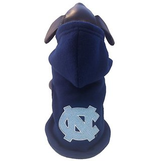 NCAA North Carolina Tar Heels Polar Fleece Hooded Dog Jacket, X-Small