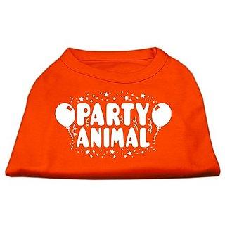 Mirage Pet Products Party Animal Screen Print Shirt Orange XS (8)