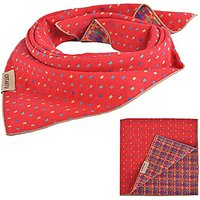 PUPTECK Pet Dog Cat Puppy Bandana Bibs Triangle Head Scarf Accessories Neckerchief For Small To Large Breed, Red