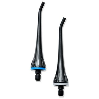 Replacement Tips for Professional Oral Irrigator by ToiletTree Products. Twin Pack (Black)
