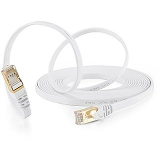 15 Feet Cat 7 Cable ,Ethernet Cable,Shielded (SSTP) Network Cable Cat 7 Flat Ethernet Patch Cable,Snagless Rj45 Connecto
