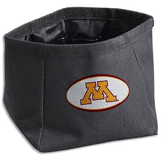 Dog Zone NCAA Pet Square Travel Bowl, Large, University of Minnesota