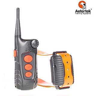 Aetertek AT-918 Recharge Waterproof Remote 550M/600 Yard Training Collar 9 Level Shock Vibrate Trainer for 1dog