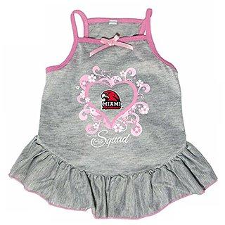 Hunter 4238-42-3200 NCAA Miami Of Ohio Too Cute Pet Dress, Large