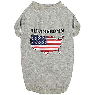 Zack & Zoey Americas Pup Tee, Large, States