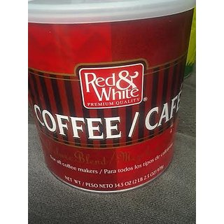 Red & White Premium Quality For All Coffee Makers Deluxe Blend 34.5 oz