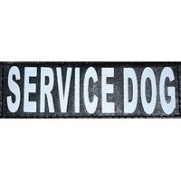 ALBCORP Set Of 2 SERVICE DOG Reflective And Removable Velcro Patches For Large And Extra Large Animal Vests And Harnesse