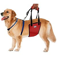 BINGPET BB5037 Dog Rear Assist Sling Mobility Support Lift Harness With Handle Rehabilitation Canines Aid Red Medium