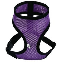 TIAOBU Soft Mesh Dog Harness Pet Easy Walking Vest Padded Safety Strap Collar (Large, Purple)