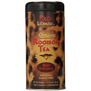 Red Leopard Organic Rooibos Natural Bush Tea, 1.75-Ounce, 20-Count Tea Bags