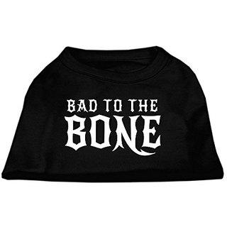 Mirage Pet Products Bad to The Bone Dog Shirt, Large, Black