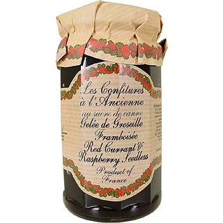 Red Currant and Raspberry Jam (Seedless) Andresy All natural French jam pure sugar cane 9 oz jar Confitures a lAncienne,