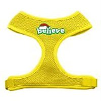 Mirage Pet Products Believe Screen Print Soft Mesh Dog Harnesses, X-Large, Yellow