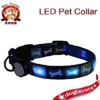 High Quality LED Dog Collar With Bones