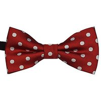 Heypet New Dog Cat Pet Adjustable Bow Tie White Spot One Size