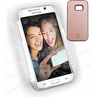 Galaxy S6 LED Case (not Edge). Soft Bright LED Lighting (Dimmable) Cell Phone Case by iPrimio . Great for Selfies. Facet