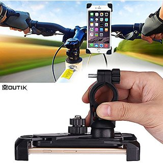 Moutik Universal Bike Bicycle Handlebar Cell Phone Mount Holder for iPhone 6 6S SE 6 Plus 5S for Samsung Galaxy S7 S5 No
