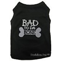 Pet Clothes BAD TO DA BONE Dog T-Shirt - Large