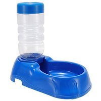 TINCINT Pet Water Dispenser Dog Water Bottle Automatic Water Fountain Food Dishes (BLUE)