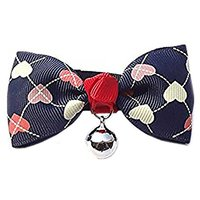 Stylish Bowtie Dog Cat Pets Adjustable Bow Tie With Bell DLJ28 (M) (1)