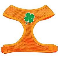 Mirage Pet Products Shamrock Screen Print Soft Mesh Dog Harnesses, X-Large, Orange