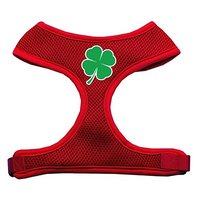 Mirage Pet Products Shamrock Screen Print Soft Mesh Dog Harnesses, X-Large, Red
