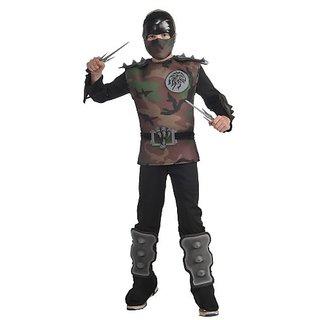 Childs Jungle Camo Ninja Costume, Medium