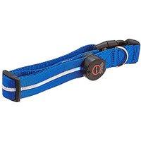 Aviditi BC203-L LED Lighted Dog Collar, Blue With Blue LED Lights, Large
