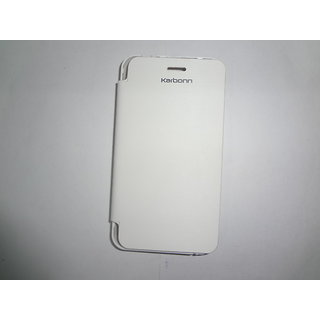 Karbonn A50 Flip Cover   White available at ShopClues for Rs.265
