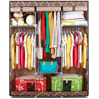 EI Stylish & Foldable Canvas Cupboard, Cabinet, Almirah, Wardrobe, Claret available at ShopClues for Rs.6199