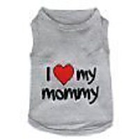 Parisian Pet I Love Mommy Dog T-Shirt, X-Large