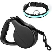Dog Retractable Leash, Jellas Retractable Dog Leash 16-Feet Dog Lead Pet Leash With FREE LED Dog Collar For Small Medium
