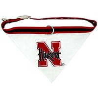 Mirage Pet Products Nebraska Corn Huskers Bandana For Dogs And Cats, Large