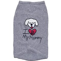 Kool Tees I Love My Mommy Dog Tee, Large
