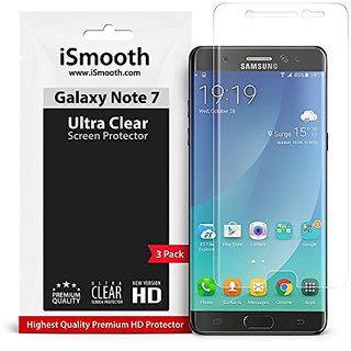 Samsung Galaxy Note 7 Screen Protector, Ultra Clear and Case Compatible Full Coverage TPU Film - Protects Your Phone Fro
