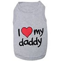 Pet Clothes I LOVE MY DADDY Dog T-Shirt - XS