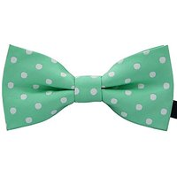 Amajiji Colorful Dots Adjustable Bowtie, Formal Bow Ties For Dog Cat Pets (Light Green)
