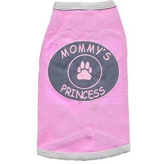 Kool Tees Mommys Princess Dog Tee, Large
