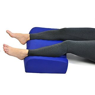 Leg Rest Heel Elevated Double Leg support Pillow with Wipe clean Anti Microbial Cover Made In USA With Convoluted Foam F